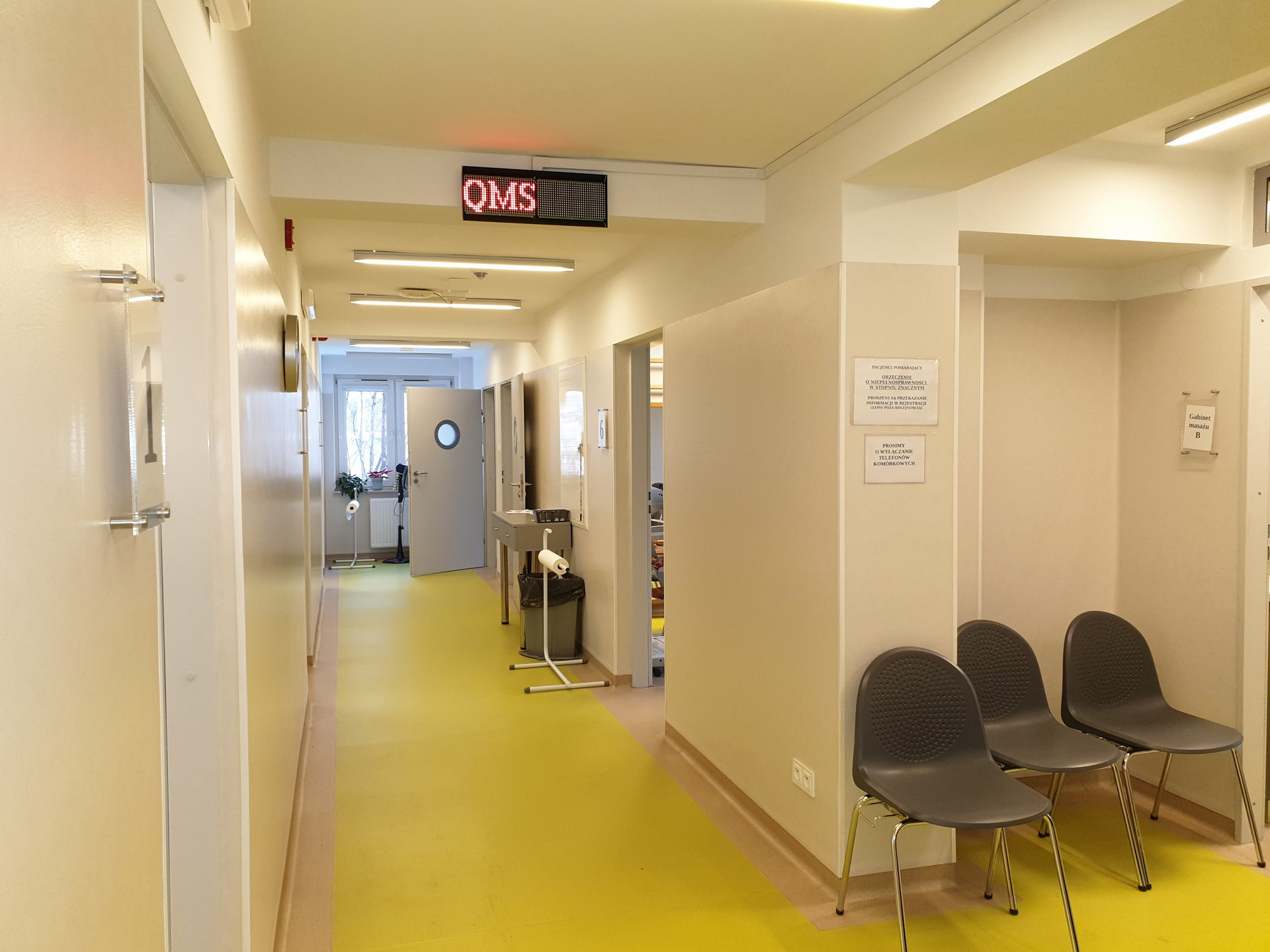 Fizykoterapia - Główny korytarz